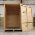 Empty storage module in our Dee Why warehouse
