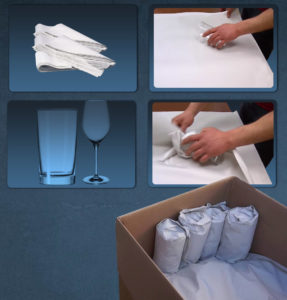 How to pack glasses and tumblers.