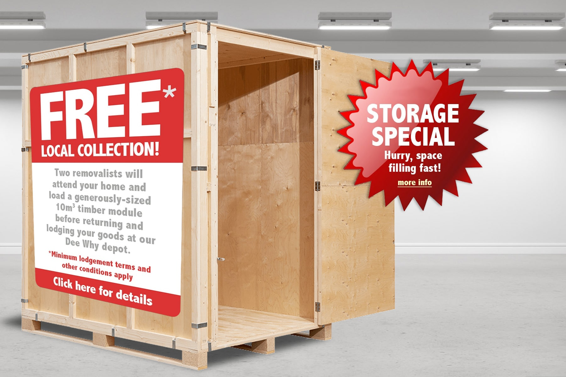 2019 Self-Storage Special Offer - Free Northern Beaches Collection!